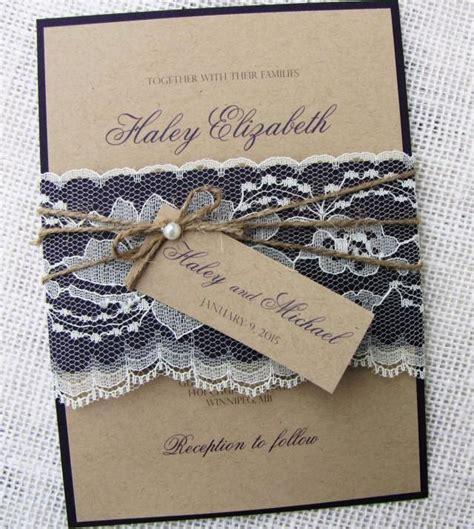 diy shabby chic wedding invitations rustic wedding invitation lace wedding invitation shabby chic wedding kraft invitation suite