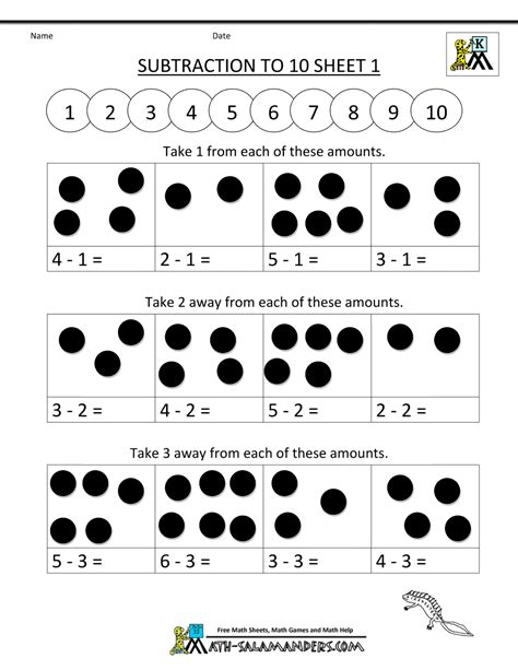 Addition And Subtraction Worksheets For Kindergarten