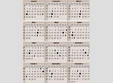 Calendário lunar de 2019