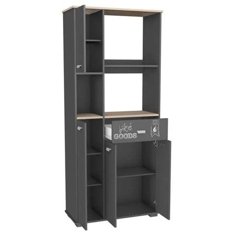 meuble cuisine avec tiroir meuble cuisine buffet avec 3 portes et 1 tiroir gris 90 x