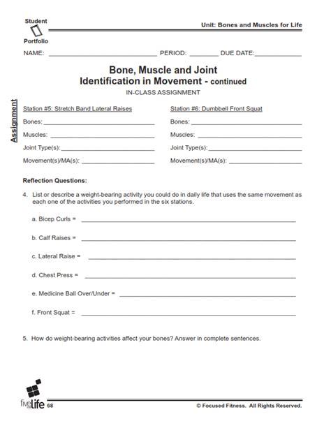 physical education middle high school portfolio