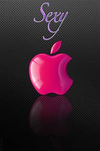 Sexy Pink Apple Logo Wallpaper - Free iPhone Wallpapers