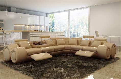 canape d angle design italien canap 233 d angle en cuir italien 7 places excelia beige 2 poufs offerts mobilier priv 233