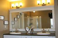 frame a mirror Full of Great Ideas: Framing a builder grade mirror that is not between two walls