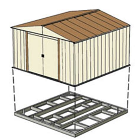 arrow storage sheds floor kit 10x8 10x9 or 10x10 fb109