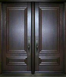 nb5410 porte double acier bois panneaux decoratifs With portes d entree en bois massif