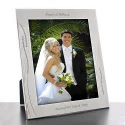 bridesmaid picture frames engraved silver wedding photo frame with diamante crystals