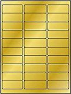 600 label outfittersr metallic gold foil laser only With avery 8987 template