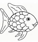Fish Rainbow Coloring Printable Categories A4 sketch template