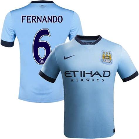 Youth 6 Fernando Manchester City FC Jersey - 14/15 Spain ...