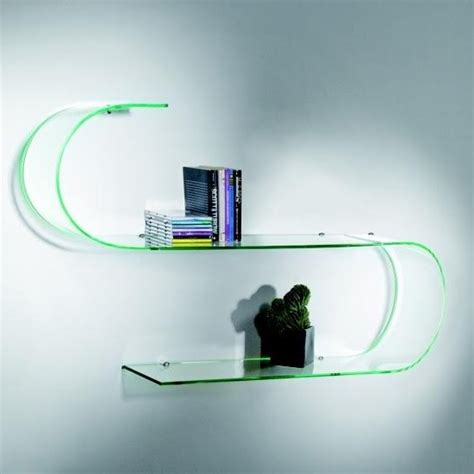 mensole in vetro temperato mensole di design per il salotto idee e consigli diredonna