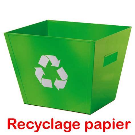 recyclage papier de bureau corbeille papier recycle