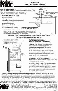 Southern Pride Xlr 600 Sl Users Manual 600spec 2 04 P65