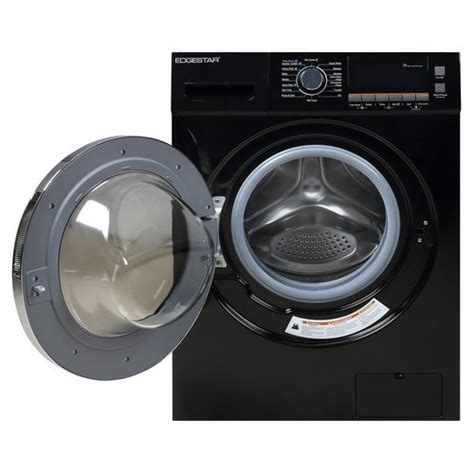 black washer and dryer edgestar cwd1550bl 2 0 cu ft all in one ventless washer