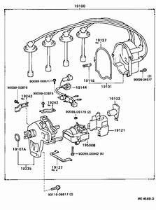 Toyota Camry Spark Plug Wire Set  Cap  Distributor