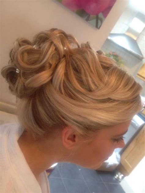 wedding hair up style curls updo curly bun blonde textured