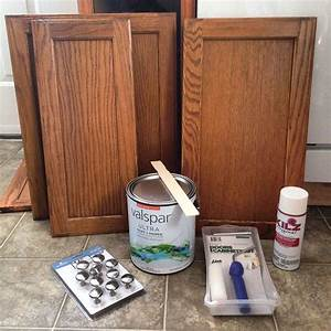Hometalk before after 387 budget kitchen update for Kitchen cabinets lowes with canvas mason jar wall art