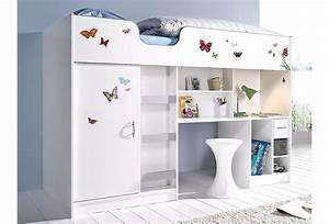 Bett Mit Schrank Drunter : hochbett online kaufen hochbett mit treppe otto ~ Frokenaadalensverden.com Haus und Dekorationen