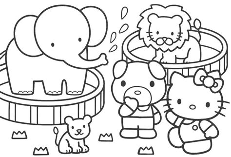 Hello Kitty Coloring Pages #1 Hello Kitty Forever