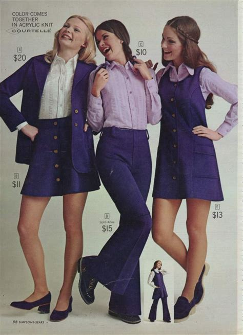 Miniskirts And Lots Of Purple A 1972 Womens Fashion
