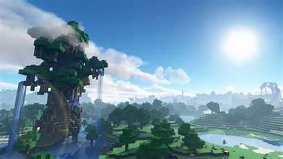 Minecraft Background Wallpapers Waterfall Desktop 4k Backgrounds
