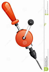 A hand drill stock vector Image of force, clipart, art