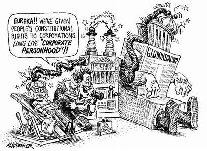 Personhood Cartoon Rights Political Corporate Bill Cartoons
