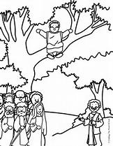 HD Wallpapers Coloring Page Zacchaeus In The Bible