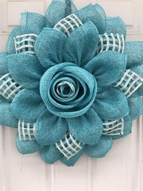 Rose Bud Flower wreath Mother s Day Flores de yute