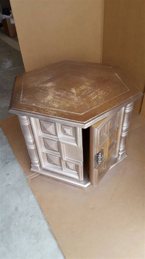 Hometalk   1960s Octagon End Table Makeover  Pet Bed in