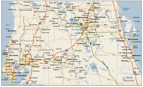 Map Of Central Florida   My blog