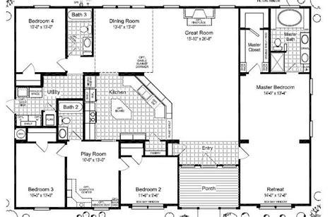 3 Bedroom Wide Floor Plans by Wide Mobile Home Floor Plans Las Brisas Floorplan