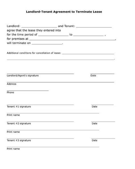 rental forms for landlords free printable black and white pdf form landlord