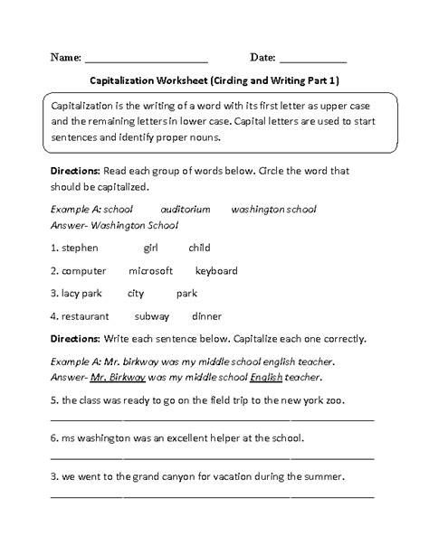 15 best images of sentence punctuation worksheets