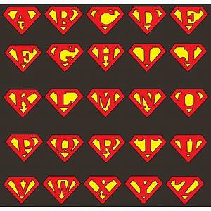 personalized superman logo superman logo customizable t With superman alphabet template