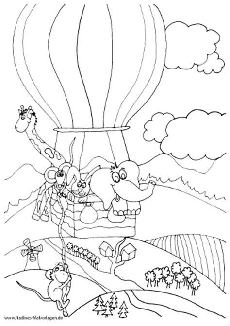 ausmalbilder heissluftballons nadines ausmalbilder