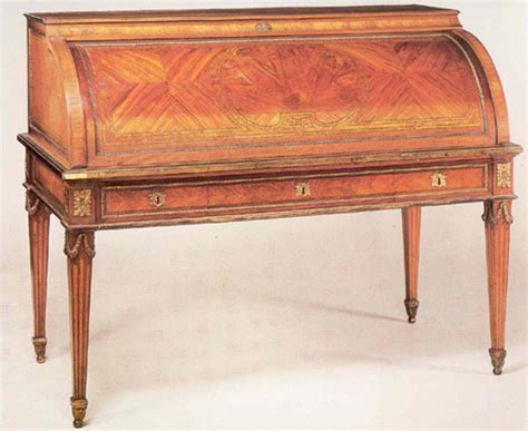 bureau louis 16 cylinder bureau secretaire in tulipwood in louis xvi