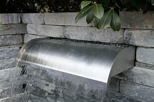 Steinmauer Mit Wasserfall : edelstahl wasserfall virginia 60cm mit led beleuchtung edelstahl wasserfall edelstahl ~ Sanjose-hotels-ca.com Haus und Dekorationen