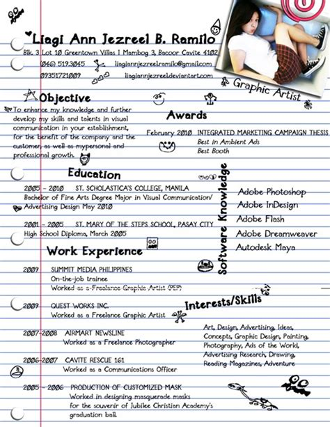 creative writing curriculum vitae 40 truly creative resume designs for inspiration