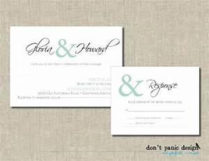 printable wedding invitation set simple elegant digital With digital wedding invitations with rsvp