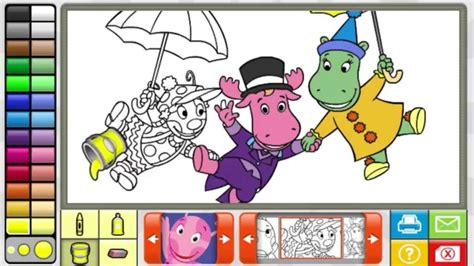 backyardigans coloring book full game  youtube
