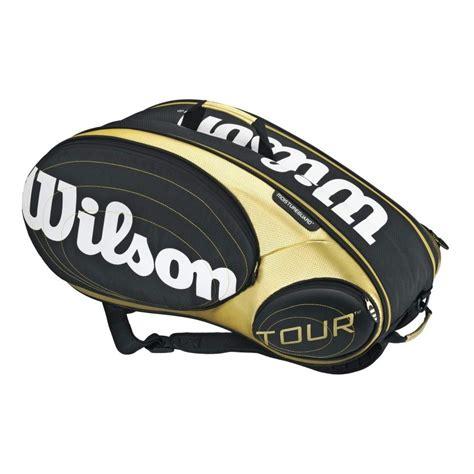 wilson   pack tennis racquet bag blackgold  sportitude