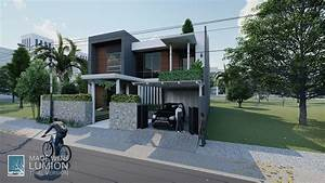 Maison Moderne Simple Visualisation 3d Et Design  Travail
