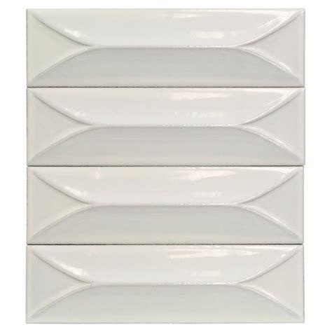 byzantine 3x9 bianco 3d ceramic tile home