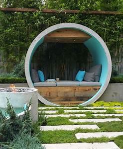 Sitzecke Aus Holz : beton im garten ~ Indierocktalk.com Haus und Dekorationen