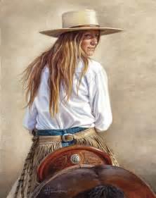 Cowgirl Art Paintings