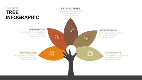 tree infographic powerpoint template  keynote diagram