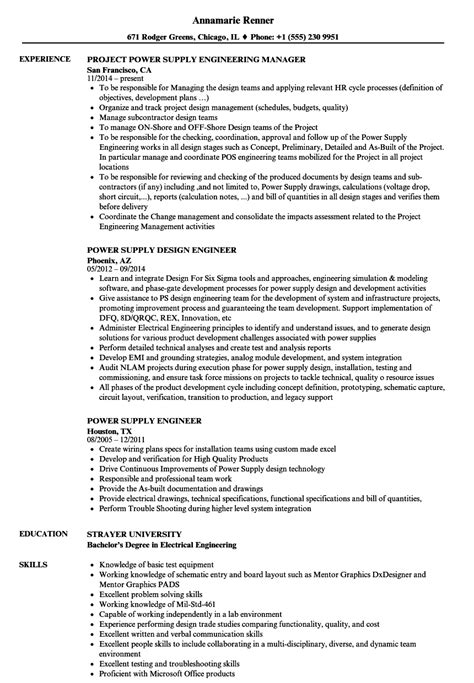 lead electrical engineer sle resume front desk