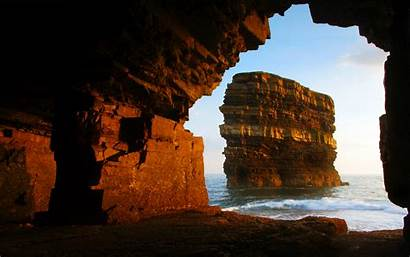 Cave Sunset Wallpapers Shore Stunning Awesome Hdwallsource