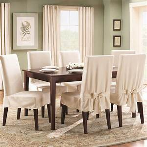 Sure fit cotton duck short dining room chair slipcover for Sure fit cotton duck short dining room chair slipcover